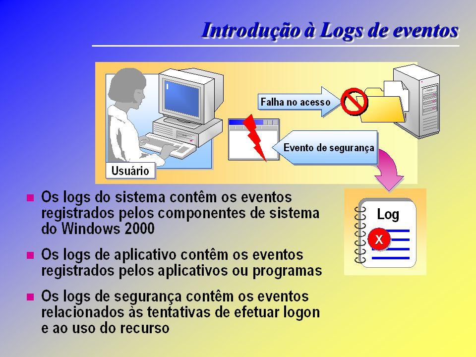 Salve os logs de eventos em um dos três formatos de arquivo a seguir: Formato de arquivo de log (.evt).