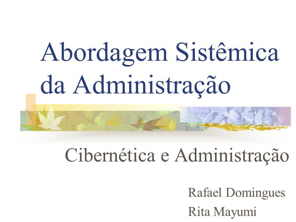 Abordagem Sistêmica da Administração Cibernética e Administração Rafael Domingues Rita Mayumi