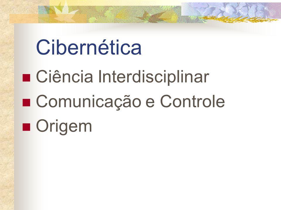 Cibernética Ciência Interdisciplinar Comunicação e Controle Origem