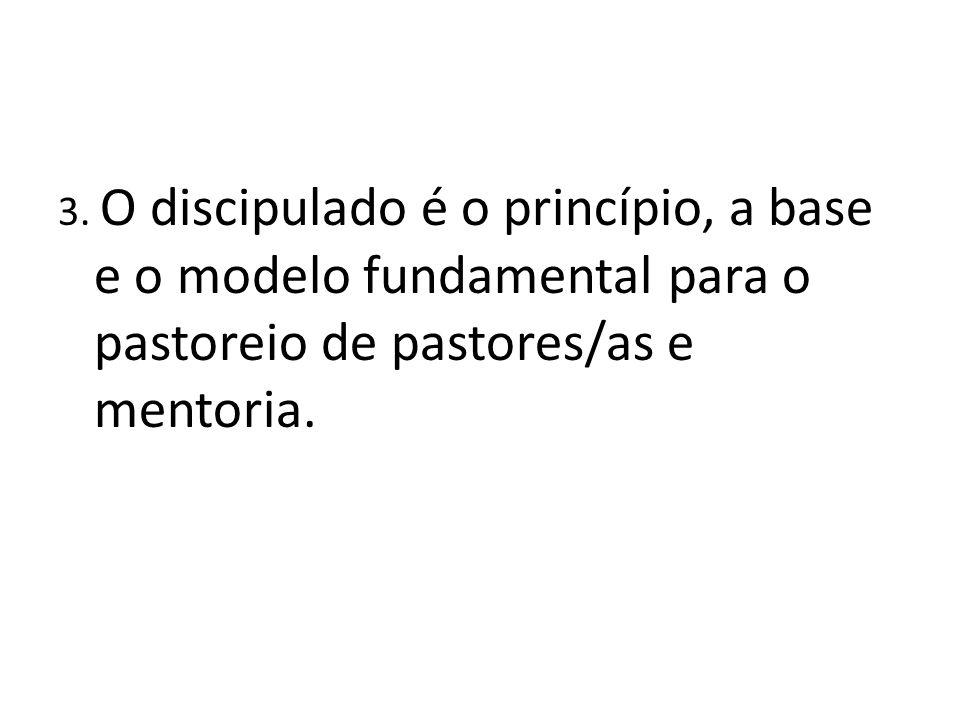 3. O discipulado é o princípio, a base e o modelo fundamental para o pastoreio de pastores/as e mentoria.