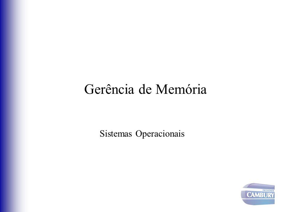 Gerência de Memória Sistemas Operacionais