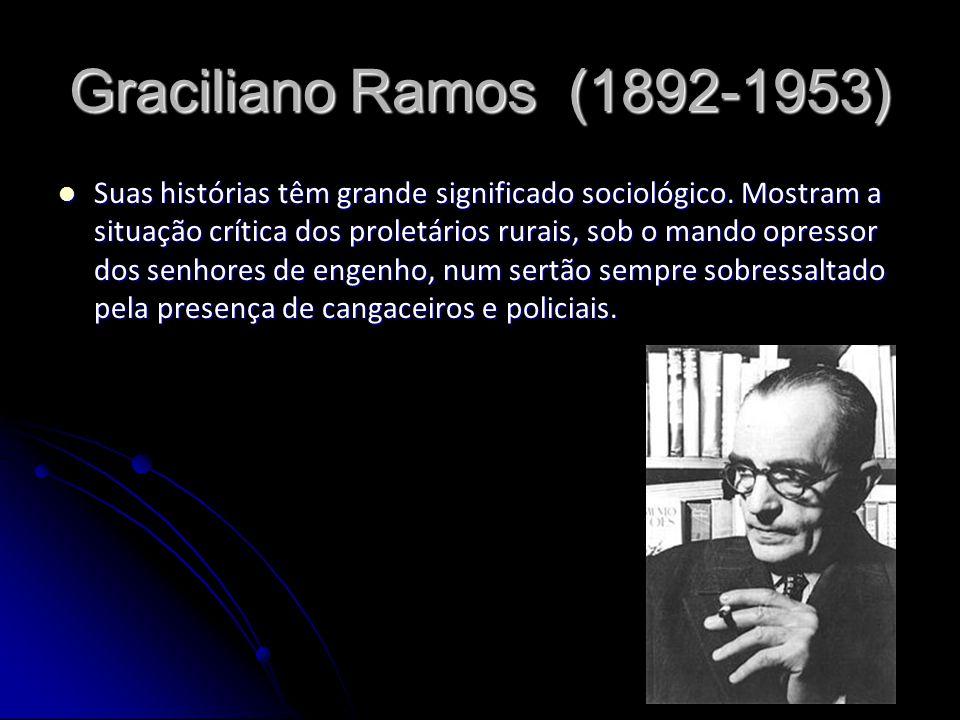 Graciliano Ramos (1892-1953) Suas histórias têm grande significado sociológico. Mostram a situação crítica dos proletários rurais, sob o mando opresso
