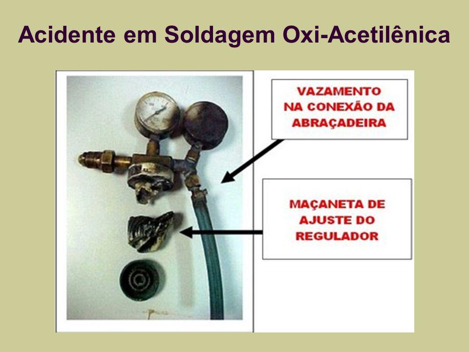 Acidente em Soldagem Oxi-Acetilênica