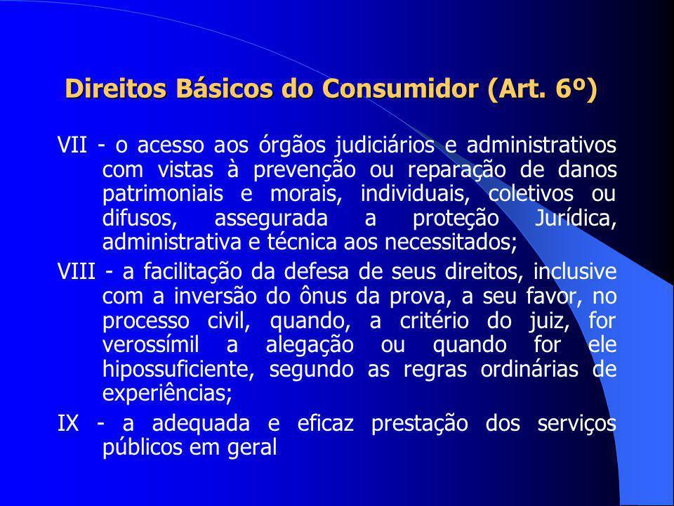 Direitos Básicos do Consumidor (Art. 6º) IV- a proteção contra a publicidade enganosa e abusiva, métodos comerciais coercitivos ou desleais, bem como