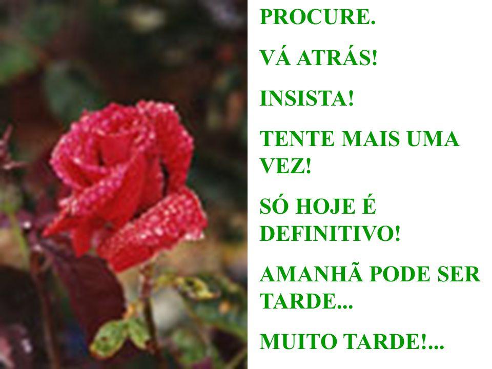 Lembre-se: AMANHÃ PODE SER TARDE... MUITO TARDE!