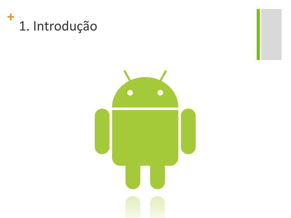 + Android Android é um sistema operacional mobile que roda sobre um núcleo Linux; Foi inicialmente desenvolvido pelo Google e posteriormente pela Open Handset Alliance Google, HTC, Dell, Intel, Motorola, Qualcomm, Texas Instruments, Samsung, LG, T-Mobile e Nvidia; A Google é a responsável pela gerência do produto e engenharia de processos.