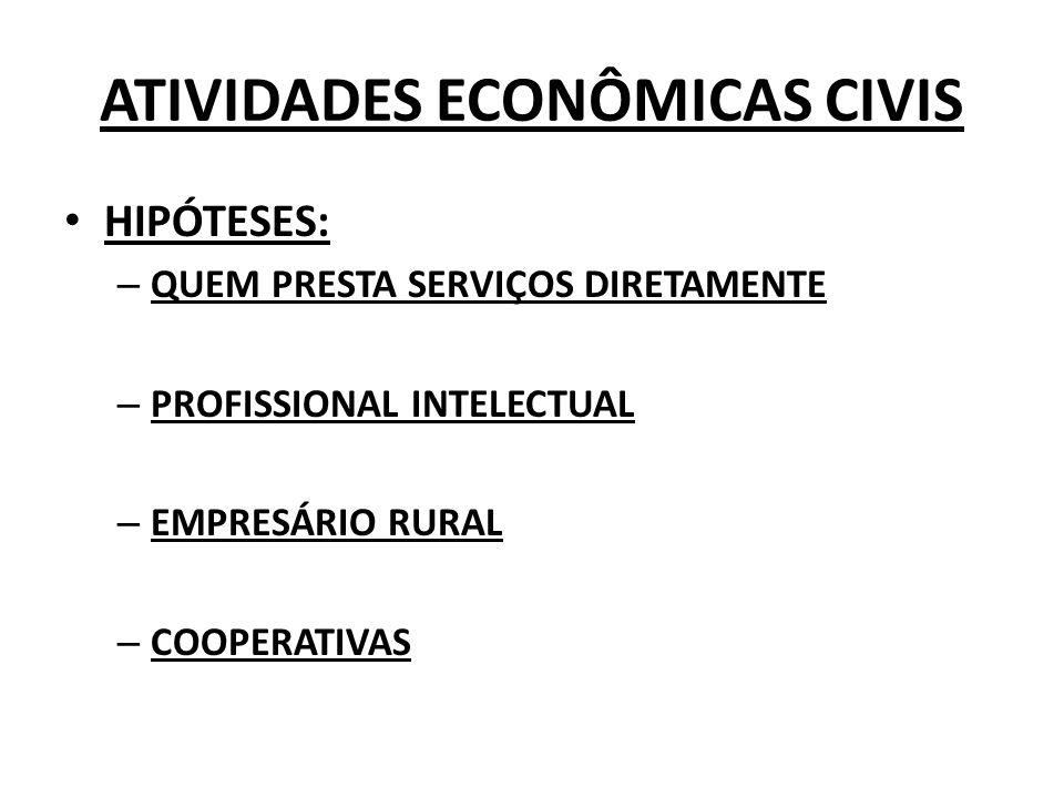 PROFISSIONAL INTELECTUAL NÃO EXERCE ATIVIDADE EMPRESARIAL, AINDA QUE CONTE COM SERVIÇOS DE COLABORADORES.