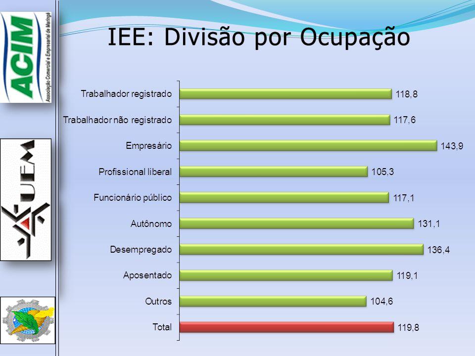 IEE: Divisão por OcupaçãoIEE: Divisão por Ocupação