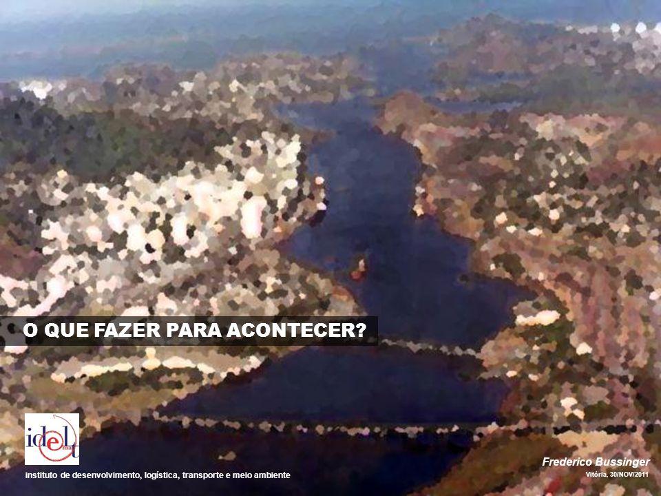 Frederico Bussinger Vitória, 30/NOV/2011 instituto de desenvolvimento, logística, transporte e meio ambiente O QUE FAZER PARA ACONTECER?