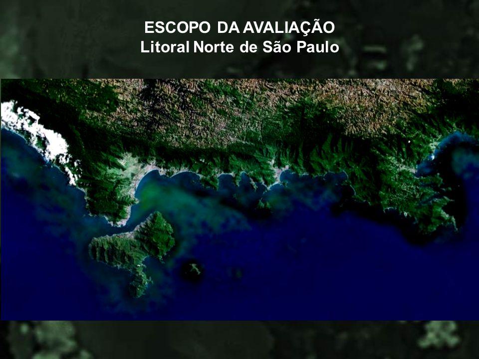 ESCOPO DA AVALIAÇÃO Litoral Norte de São Paulo