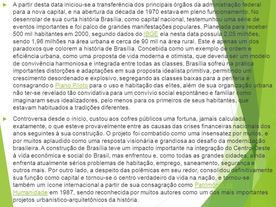 Origem de Brasília História de Brasília, a capital do Brasil, localizada no Distrito Federal, no coração do país, iniciou com as primeiras ideias de u