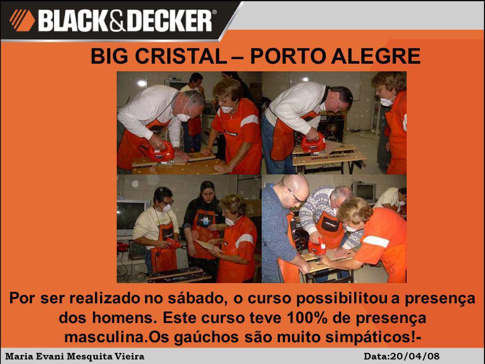 Maria Evani Mesquita Vieira Data:20/04/08 Por ser realizado no sábado, o curso possibilitou a presença dos homens.