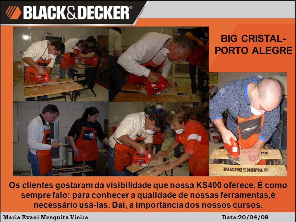 Maria Evani Mesquita Vieira Data:20/04/08 Os clientes gostaram da visibilidade que nossa KS400 oferece.