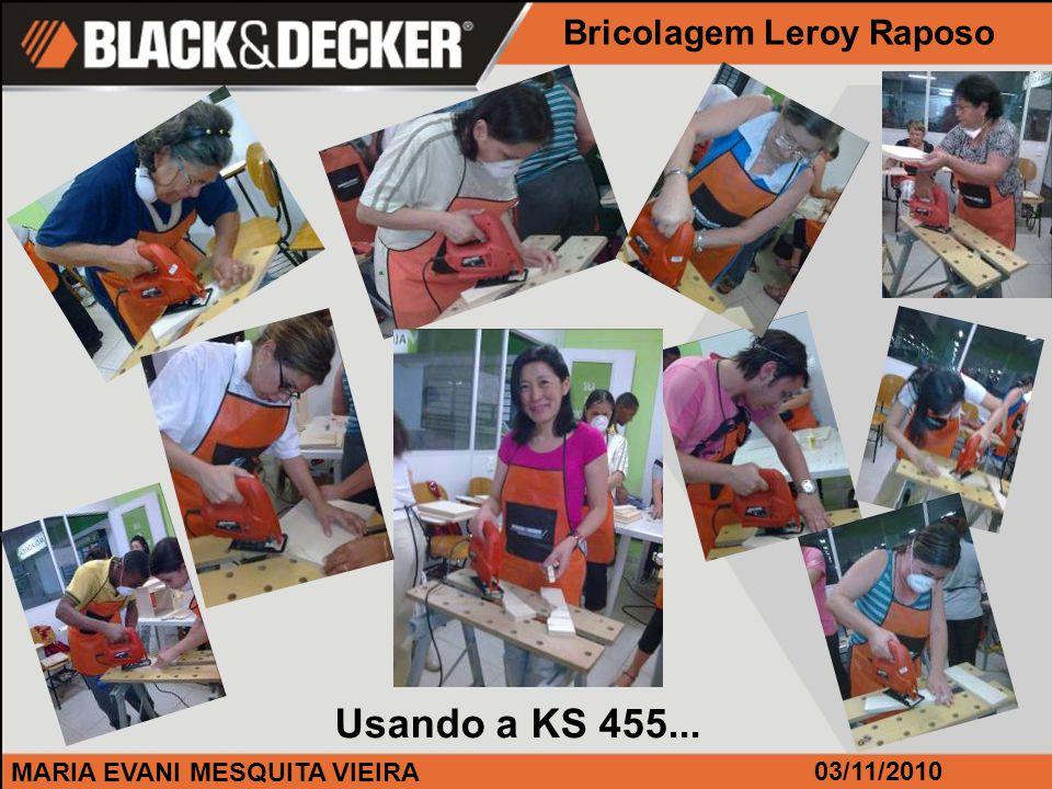 MARIA EVANI MESQUITA VIEIRA Bricolagem Leroy Raposo Usando a KS 455... 03/11/2010