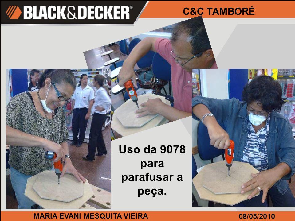 MARIA EVANI MESQUITA VIEIRA 08/05/2010 C&C TAMBORÉ Finalmente, é só alegria ao terminar a obra de arte!!!!!