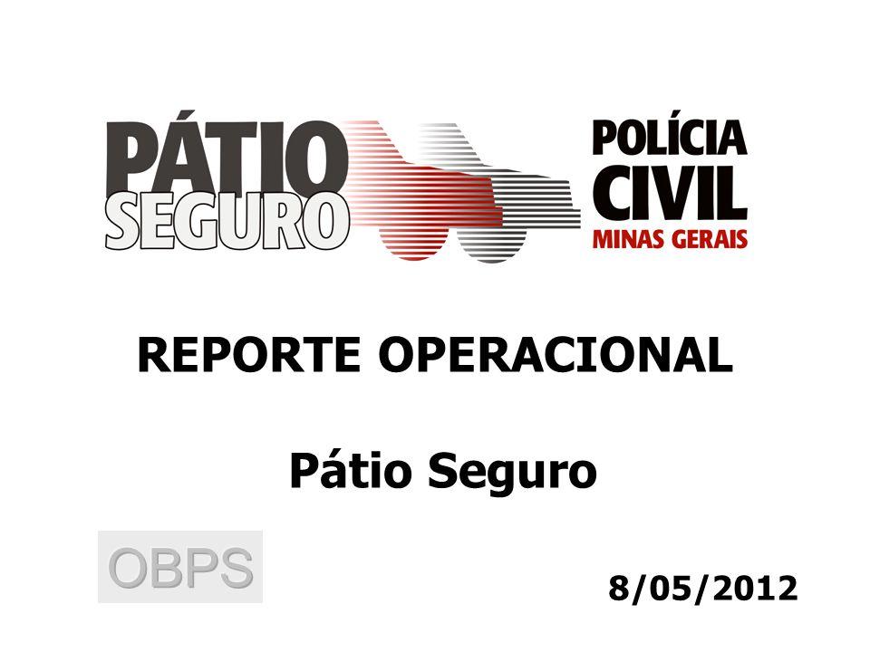 8/05/2012 REPORTE OPERACIONAL Pátio Seguro