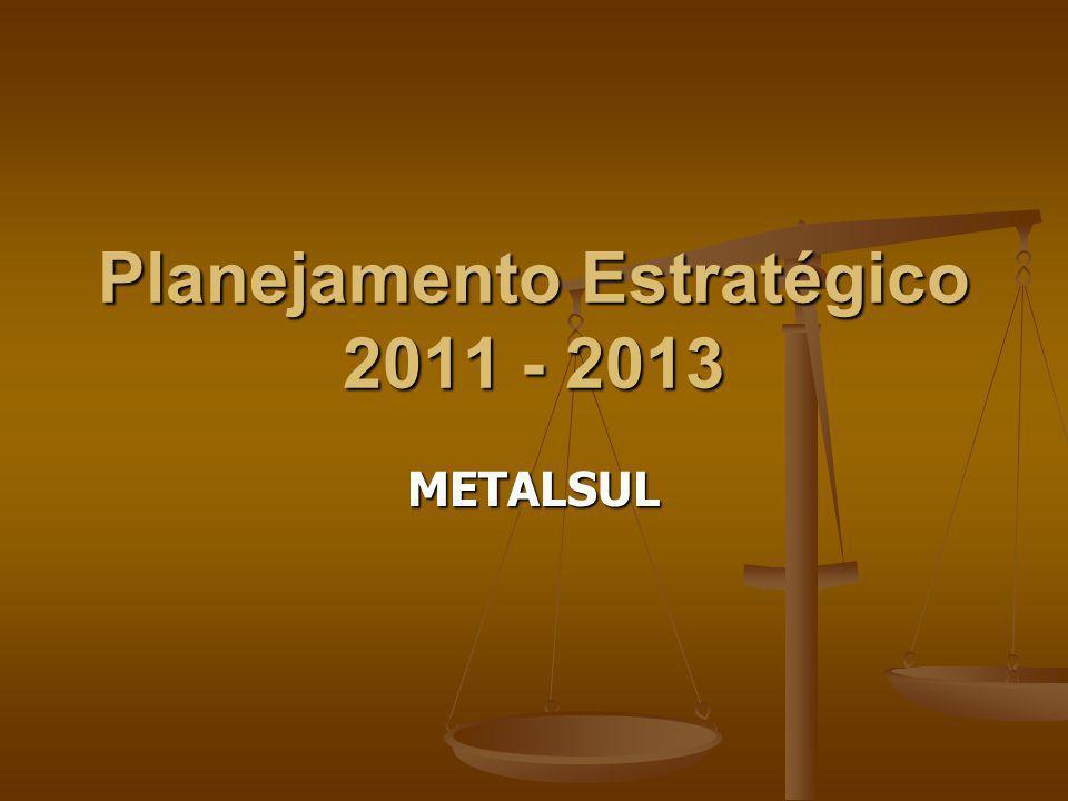 Planejamento Estratégico 2011 - 2013 METALSUL