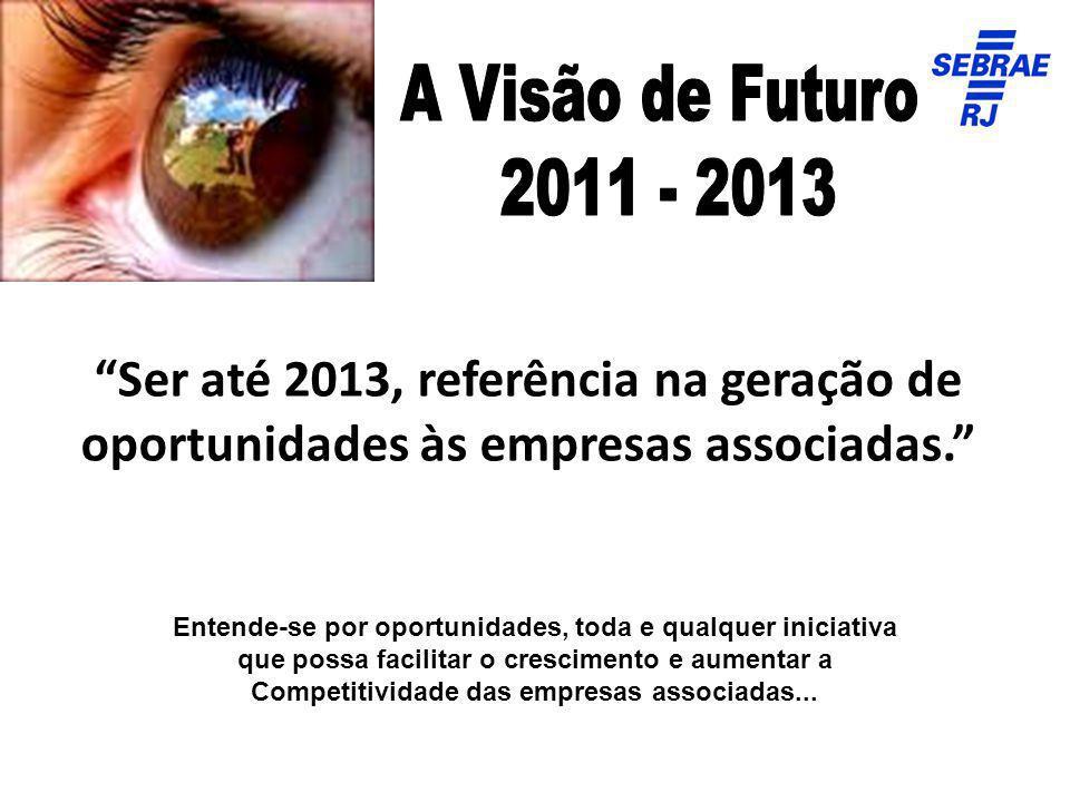 Ser até 2013, referência na geração de oportunidades às empresas associadas. Entende-se por oportunidades, toda e qualquer iniciativa que possa facili