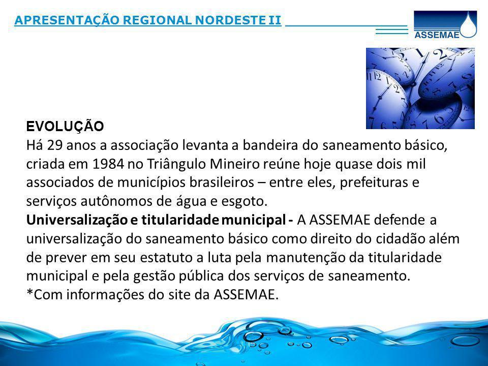 Há 29 anos a associação levanta a bandeira do saneamento básico, criada em 1984 no Triângulo Mineiro reúne hoje quase dois mil associados de municípios brasileiros – entre eles, prefeituras e serviços autônomos de água e esgoto.