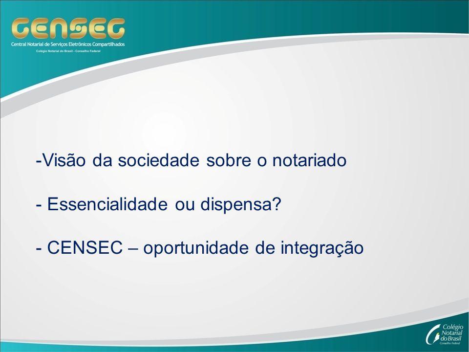 -Visão da sociedade sobre o notariado - Essencialidade ou dispensa.
