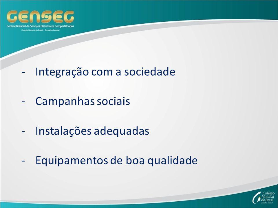 -Integração com a sociedade -Campanhas sociais -Instalações adequadas -Equipamentos de boa qualidade