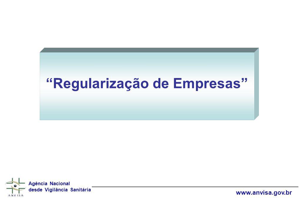 Regularização de Empresas Agência Nacional desde Vigilância Sanitária www.anvisa.gov.br