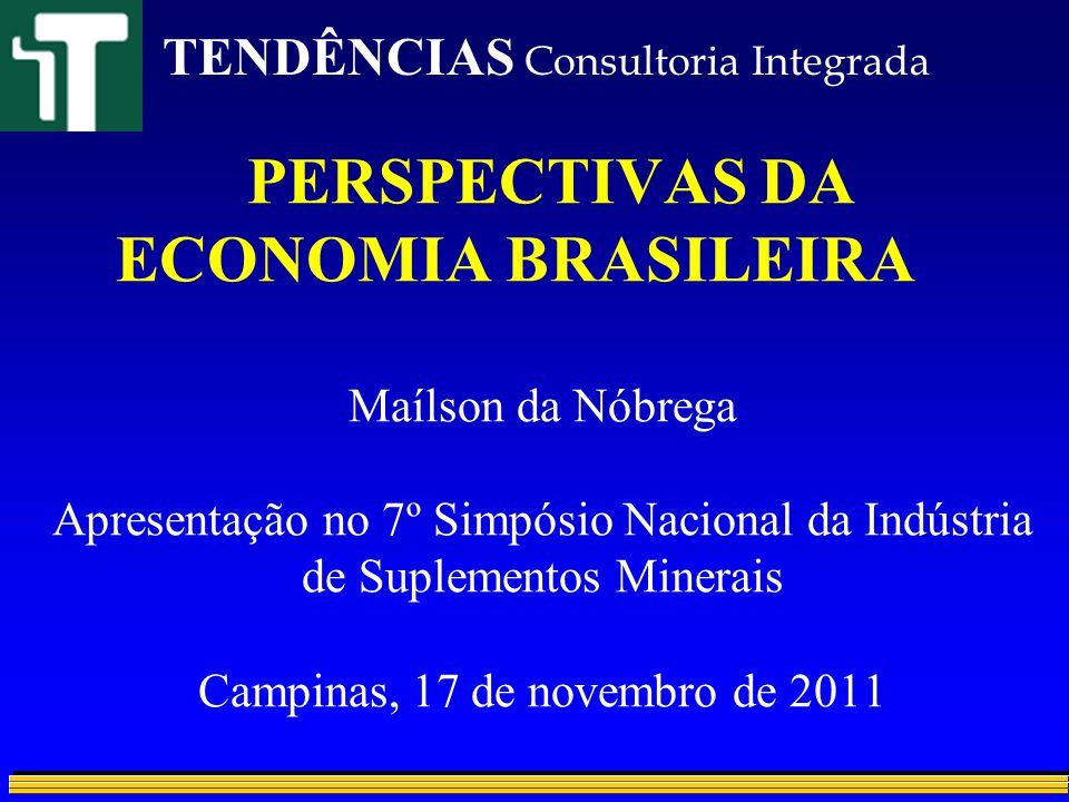 PERSPECTIVAS DA ECONOMIA BRASILEIRA Maílson da Nóbrega Apresentação no 7º Simpósio Nacional da Indústria de Suplementos Minerais Campinas, 17 de novem