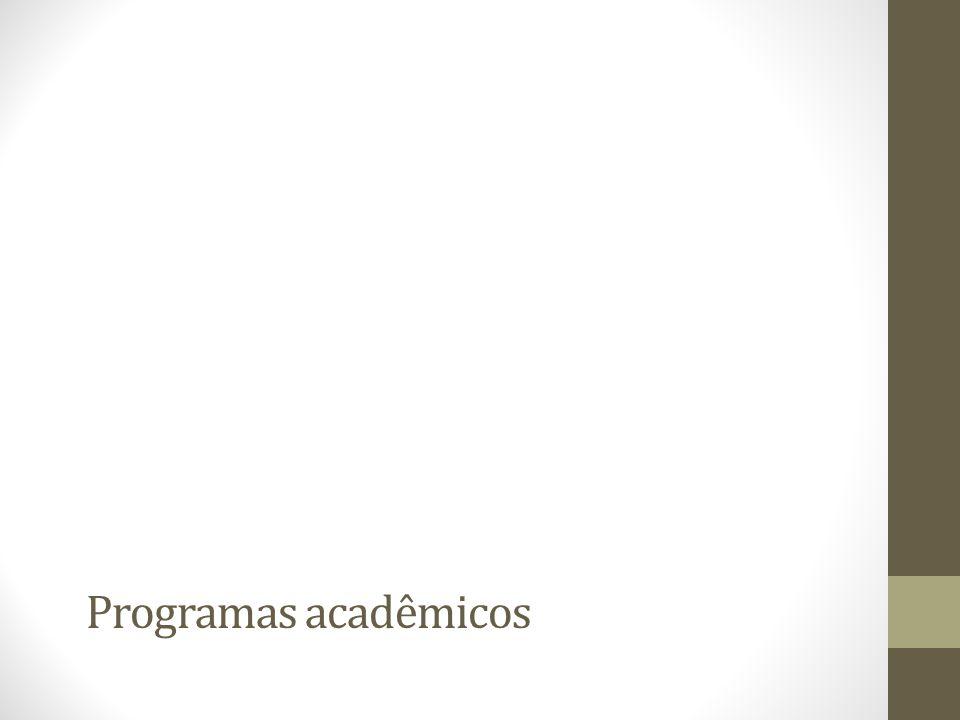 Programas acadêmicos