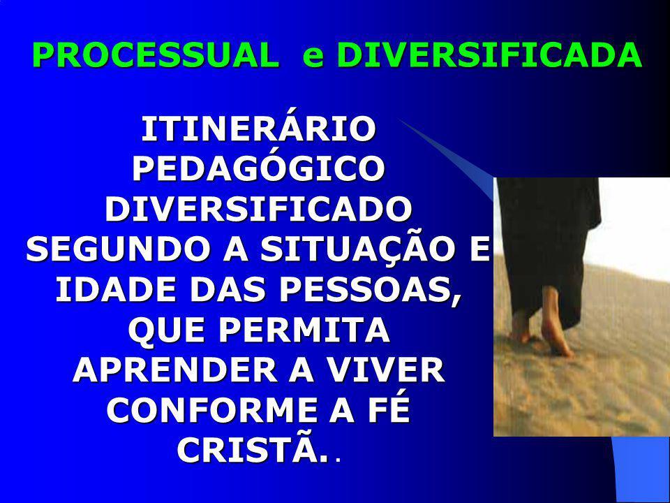 ITINERÁRIO PEDAGÓGICO DIVERSIFICADO SEGUNDO A SITUAÇÃO E IDADE DAS PESSOAS, QUE PERMITA APRENDER A VIVER CONFORME A FÉ CRISTÃ. ITINERÁRIO PEDAGÓGICO D