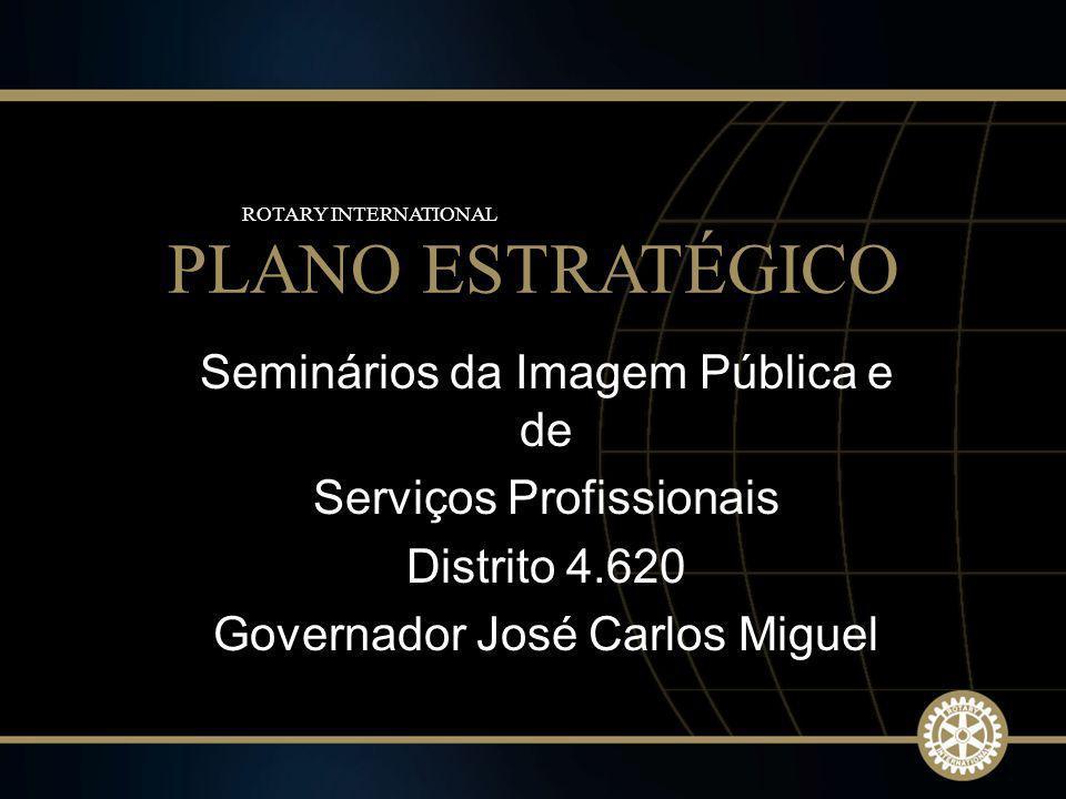 1 2009-10 Rotary Institutes Seminários da Imagem Pública e de Serviços Profissionais Distrito 4.620 Governador José Carlos Miguel PLANO ESTRATÉGICO RO