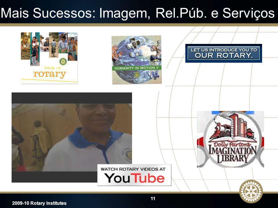 11 2009-10 Rotary Institutes Mais Sucessos: Imagem, Rel.Púb. e Serviços