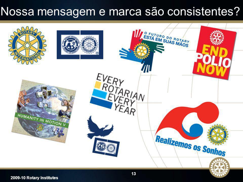 13 2009-10 Rotary Institutes Nossa mensagem e marca são consistentes?