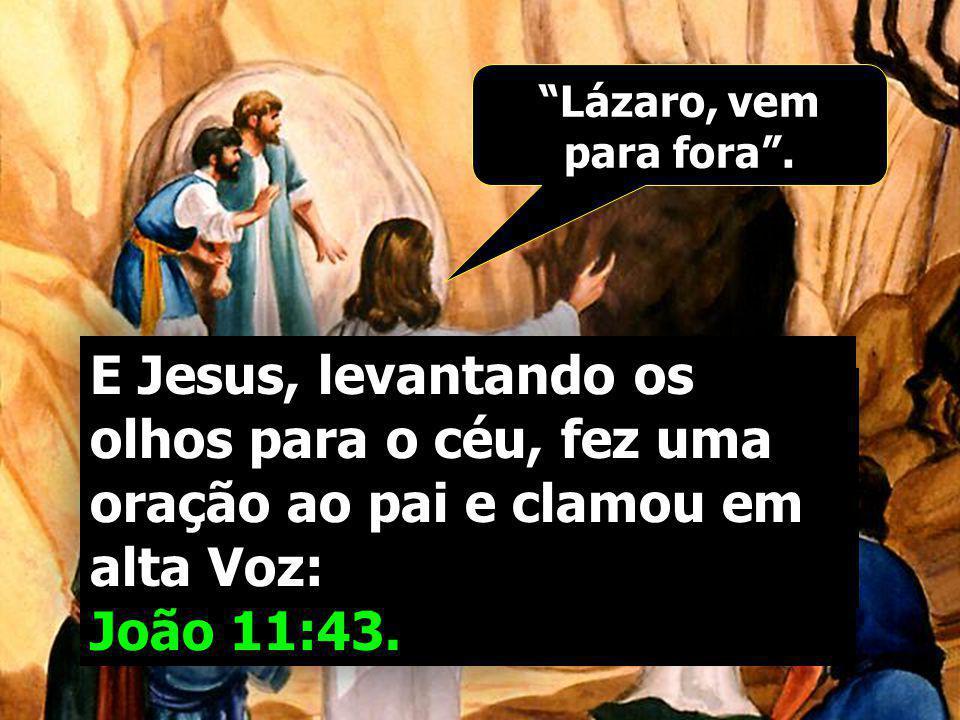 Disse-lhe Marta, irmã do morto: Senhor, já cheira mal, porque já é de quatro dias... Tiraram, então a pedra. S. João 11:39-40