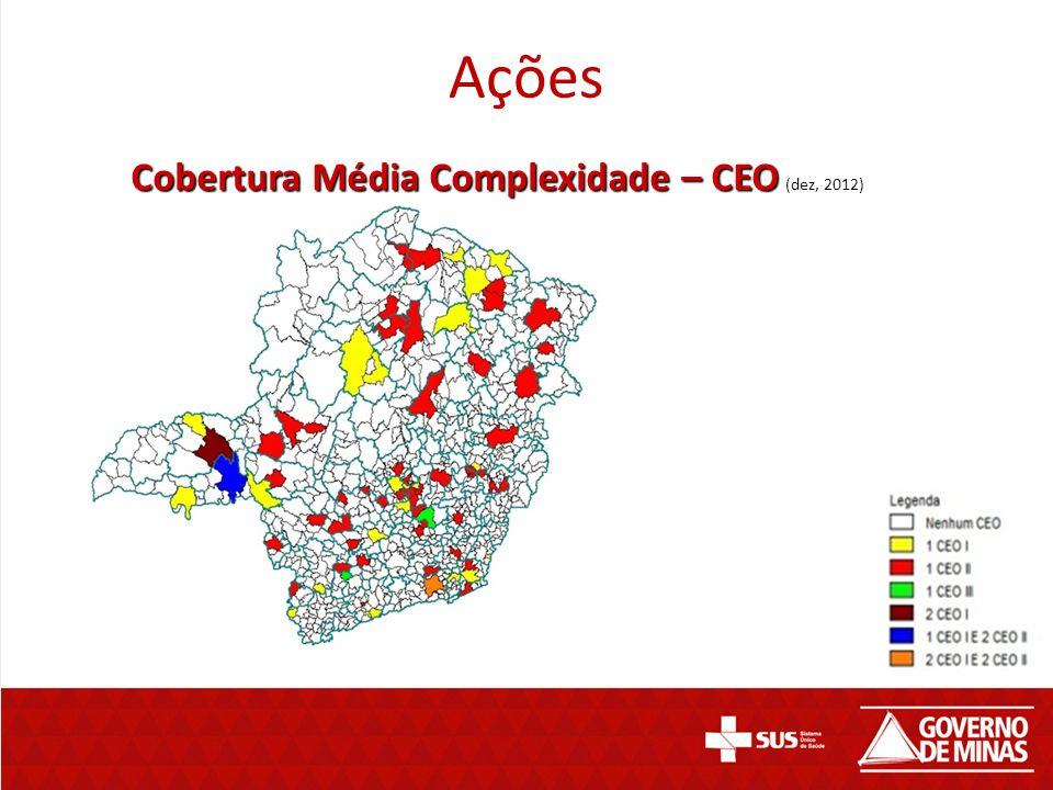 Ações Cobertura Média Complexidade – CEO Cobertura Média Complexidade – CEO (dez, 2012)