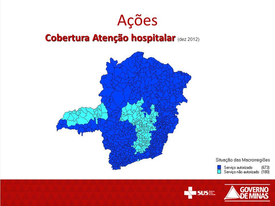 Ações Cobertura Atenção hospitalar Cobertura Atenção hospitalar (dez 2012)