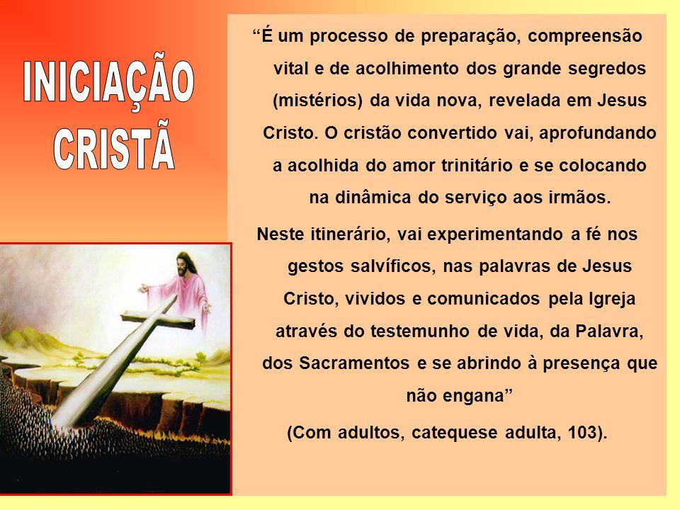 É um processo de preparação, compreensão vital e de acolhimento dos grande segredos (mistérios) da vida nova, revelada em Jesus Cristo. O cristão conv