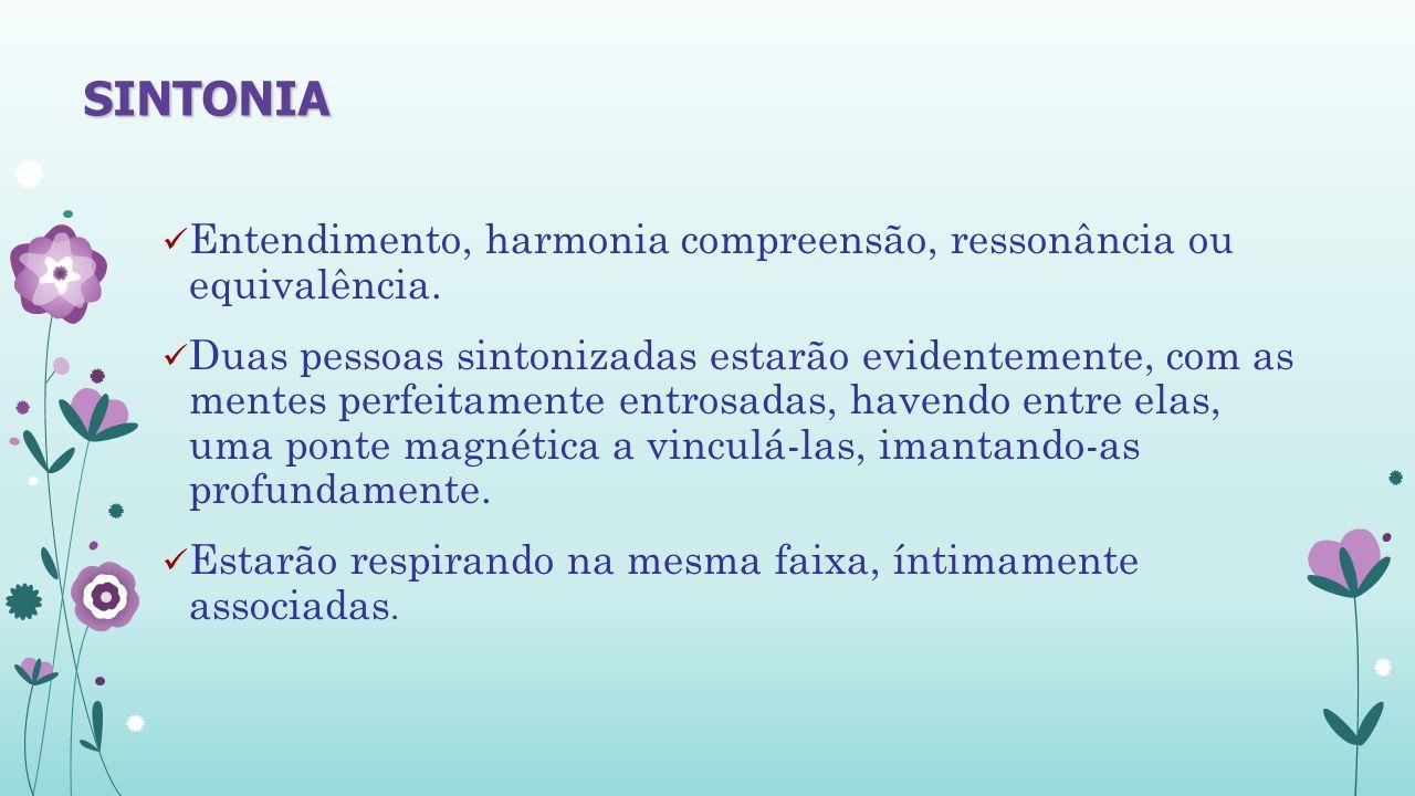 Entendimento, harmonia compreensão, ressonância ou equivalência.