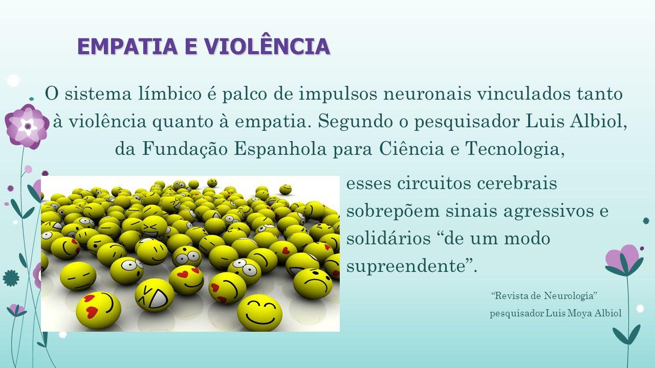 EMPATIA E VIOLÊNCIA O sistema límbico é palco de impulsos neuronais vinculados tanto à violência quanto à empatia.