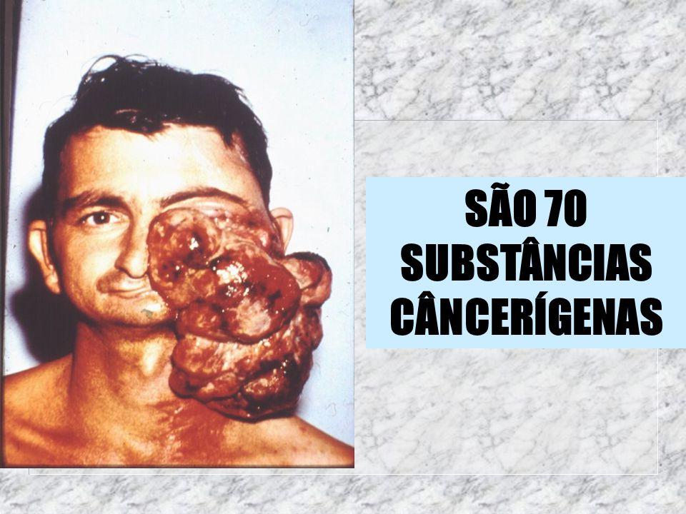 SÃO 70 SUBSTÂNCIAS CÂNCERÍGENAS