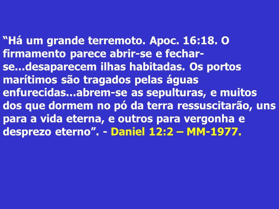 7º Flagelo – Então, derramou o sétimo anjo a sua taça pelo ar, e saiu grande voz do santuário, do lado do trono, dizendo: Feito Está! E sobrevieram re