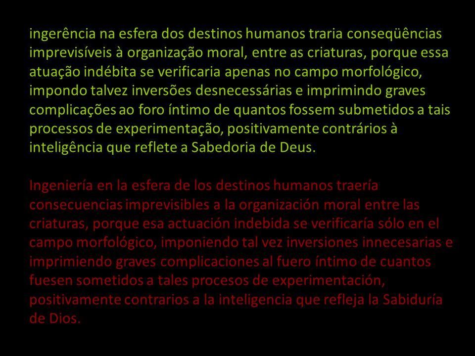 DETERMINAÇÃO DE SEXO DETERMINACIÓN DE SEXO Pergunta: Como devemos encarar a possibilidade de a ciência humana patrocinar a determinação de sexo no iní