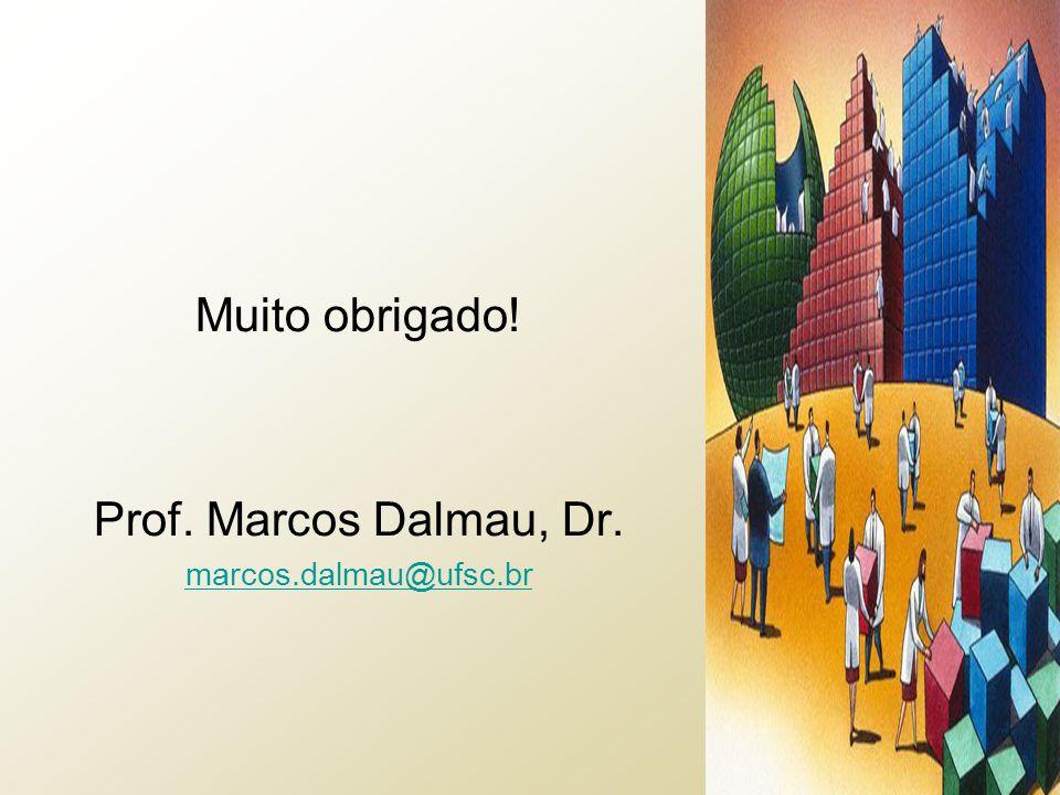 Muito obrigado! Prof. Marcos Dalmau, Dr. marcos.dalmau@ufsc.br