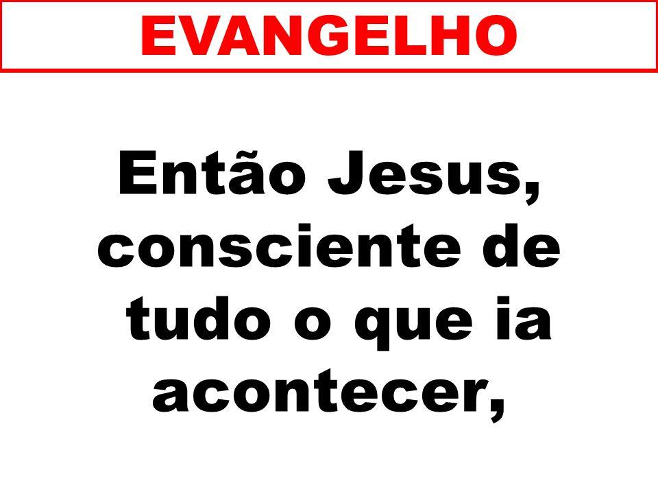 Então Jesus, consciente de tudo o que ia acontecer, EVANGELHO