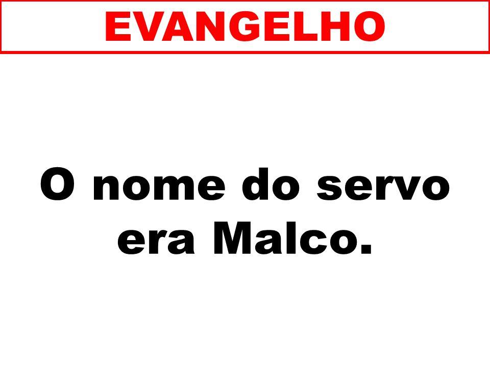 O nome do servo era Malco. EVANGELHO