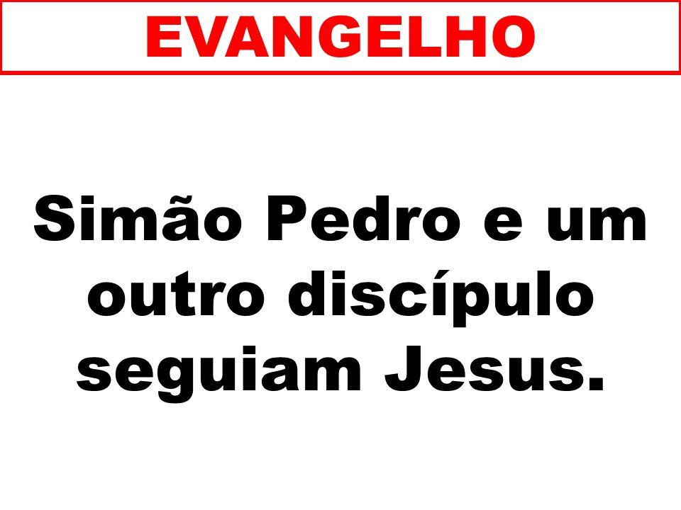 Simão Pedro e um outro discípulo seguiam Jesus. EVANGELHO
