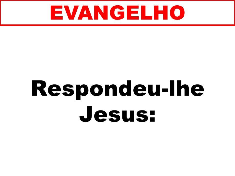 Respondeu-lhe Jesus: EVANGELHO
