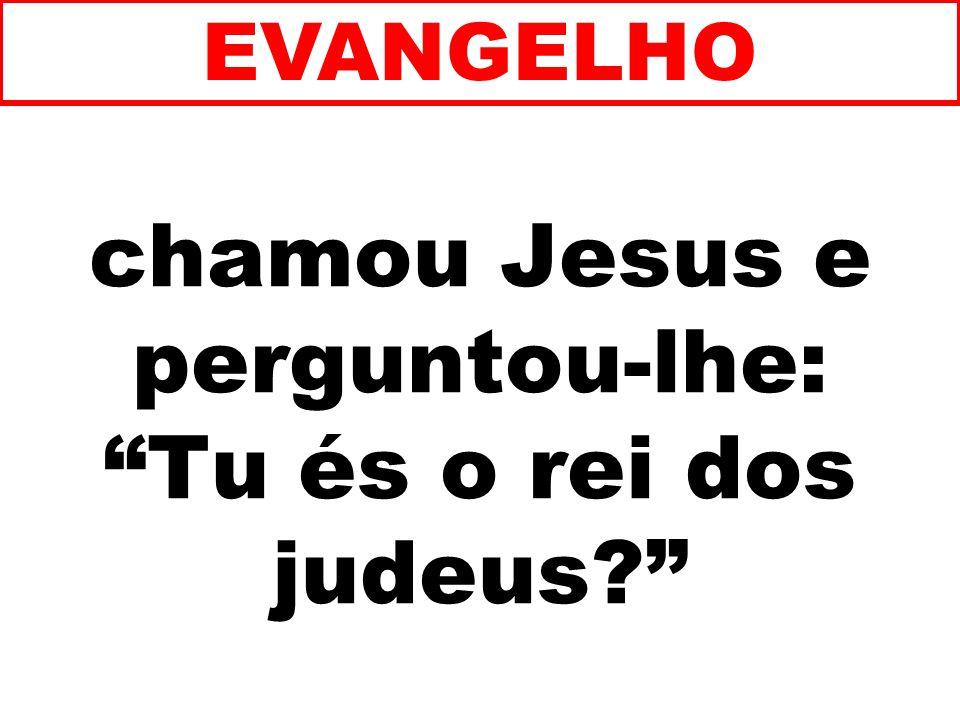 chamou Jesus e perguntou-lhe: Tu és o rei dos judeus? EVANGELHO