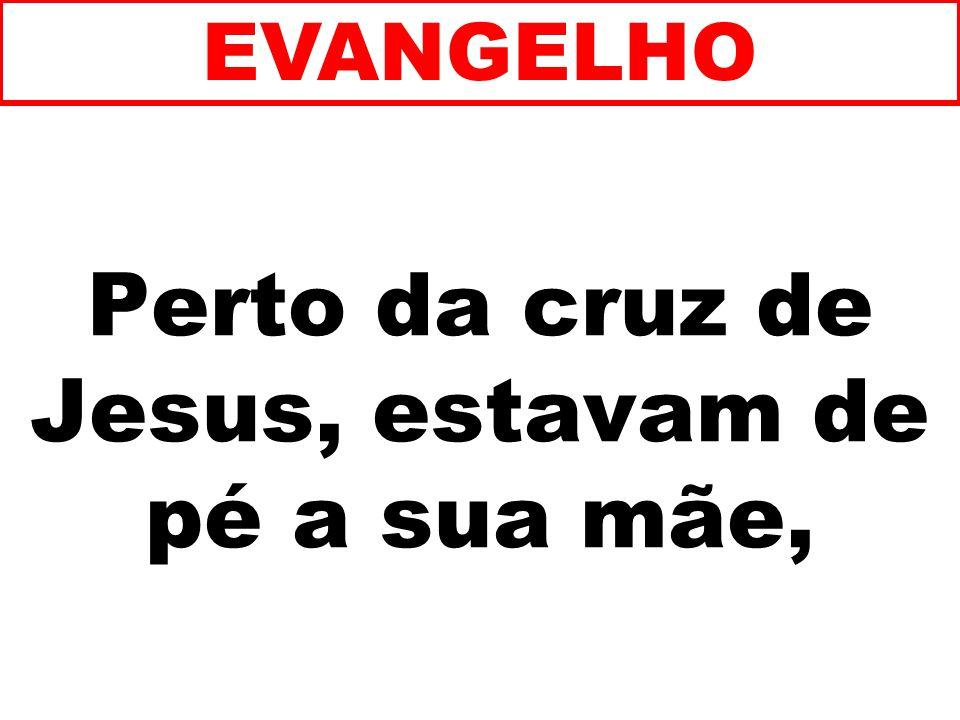 Perto da cruz de Jesus, estavam de pé a sua mãe, EVANGELHO