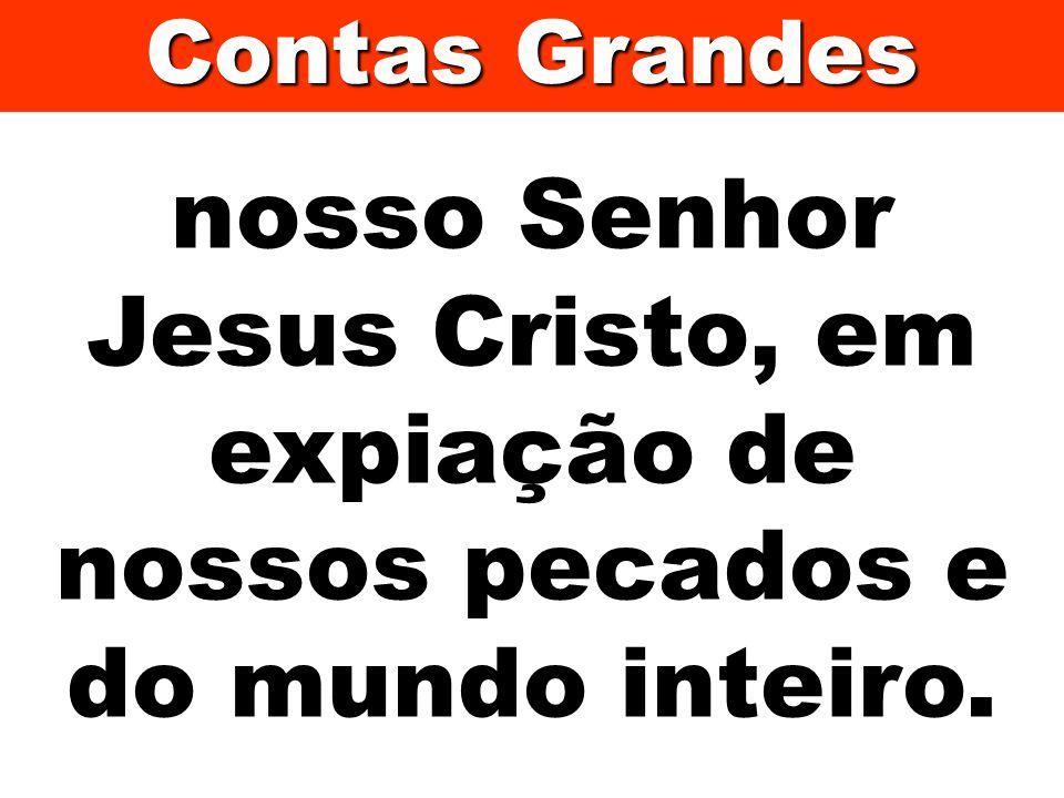 nosso Senhor Jesus Cristo, em expiação de nossos pecados e do mundo inteiro. Contas Grandes