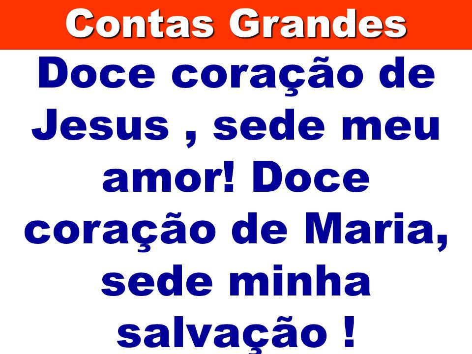 Doce coração de Jesus, sede meu amor! Doce coração de Maria, sede minha salvação ! Contas Grandes